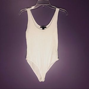 Ribbed white body suit
